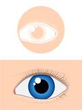 Eye pictogram poster