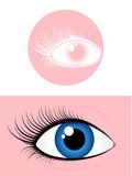 Female eye pictogram poster