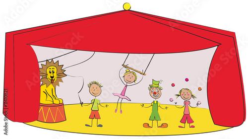 enfants au cirque