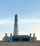Minaret in ancient city of Khiva, Uzbekistan poster