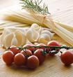 Detaily fotografie Těstoviny a rajčata