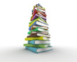 Stack of books. Digitally generated image.