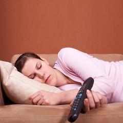 Sleeping in front of TV
