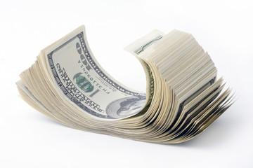 stack of hundreds dollars