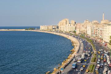 View of Alexandria harbor, Egypt