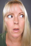 Shocked Blond Woman poster