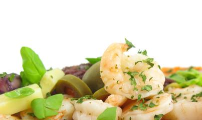 Shrimps seafood salad