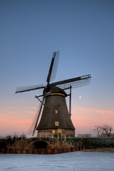Windmill in the evening sun