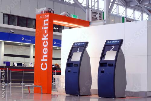 Leinwanddruck Bild International airport terminal