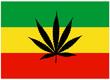 Drapeau rasta avec Feuille de Cannabis