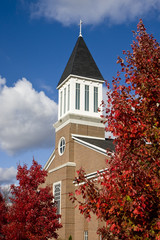 Brick Church in Autumn