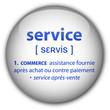 """Bouton """"service"""" avec définition"""