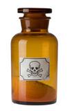 glass bottle of poison poster