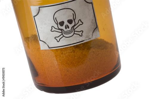 poster of glass bottle of poison