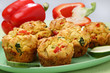 Muffin with vegetable