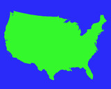 United States of America outline map poster