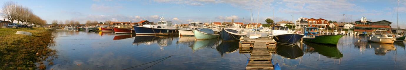 pinasses au port de La Teste