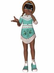 Kleine Indianerin - Toon Figur