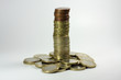 Euro coin tower