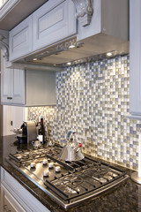 kitchen stove and backsplash