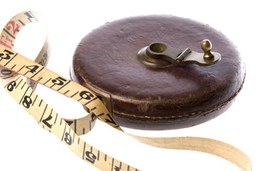 Vintage Measuring Tape Isolated