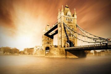 awesome sunset at Tower Bridge - London