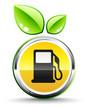 icône carburant vert