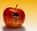 red poison apple background poster