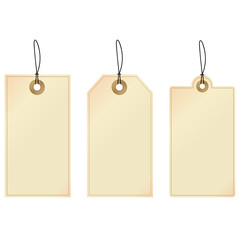 Tags: set of decorative tags