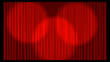 3d Illustrated Theatre Curtain in red