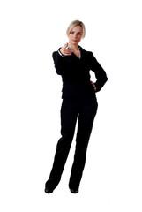 woman in pantsuit