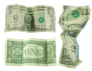 Dirty United States (US) dollars