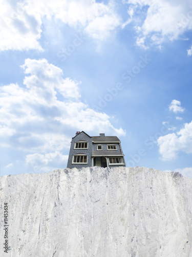 House at edge of cliff
