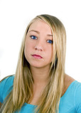 Sad teen girl poster