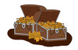 Treasure Chests loot Cartoon - Isolated On White