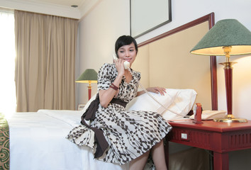 Hotel guest calling
