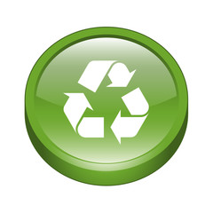 Recycling Icon Web Button