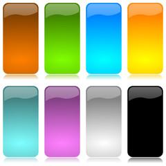 Barre vettoriali verticali colorate 2