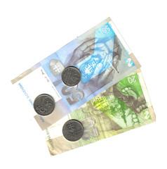 slovenina back banknotes and coin