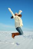 Fototapety snow jumping