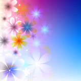 Abstract gentle floral background poster