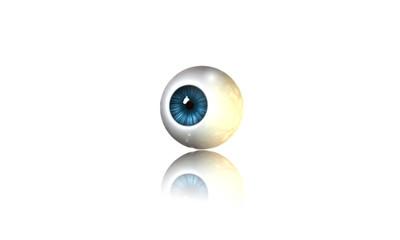Occhio Blu riflesso
