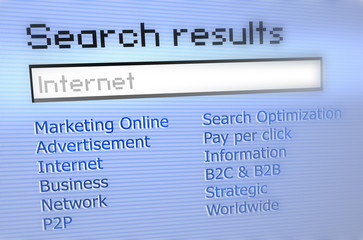 Internet Search results