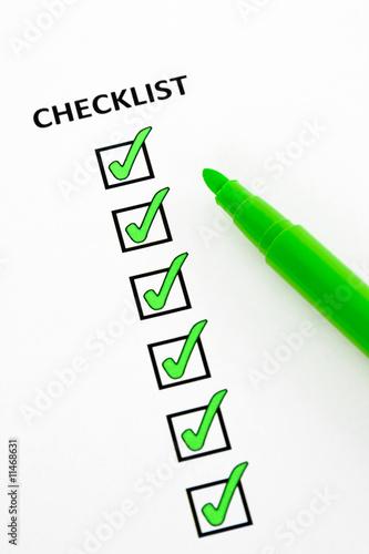 Poster Green checklist