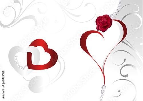 valentinstag herz rosen stockfotos und lizenzfreie bilder auf bild 11469089. Black Bedroom Furniture Sets. Home Design Ideas