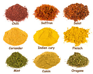 Spice - on a white background.