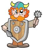 Angry viking warrior poster