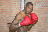 boxing athlete ready to fight poster