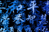 Chinese Writing Calligraphy Background poster