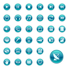 Web icons, buttons. Round series 3